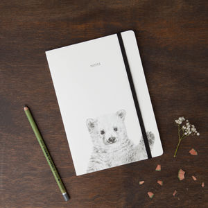 Polar Bear Round Cornered Notebook