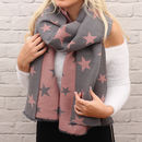 Personalised Supersoft Wool Pleated Star Scarf
