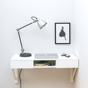 Floating Beech Desk With Drawers - bedroom
