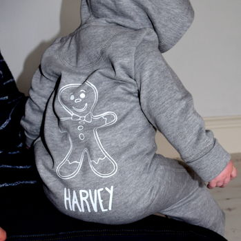 Personalised Baby Gingerbread Onesie