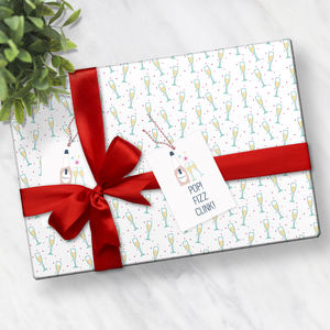 Prosecco Wrapping Paper - ribbon & wrap