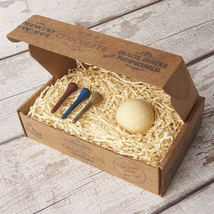 Chocolate Golf Ball And Tees Gift Box - gifts for him