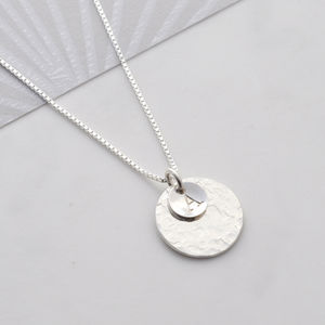 Personalised Hammered Disc Necklace - view all new