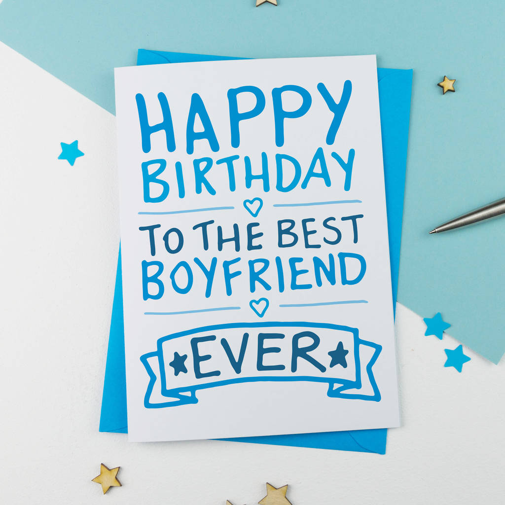 Birthday Wishes For Boyfriend And Boyfriend Birthday Card: Happy Birthday Boyfriend Card By A Is For Alphabet