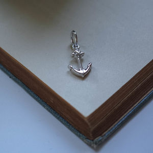Anchor Charm In Sterling Silver