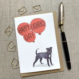 Father's Day Patterdale Terrier Card