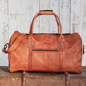 Personalised Leather Duffle Bag - bags & cases