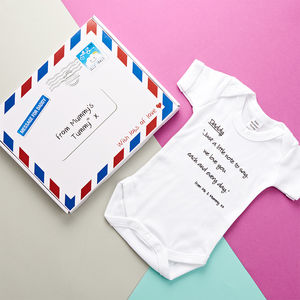 'Father To Be' From Mummy's Tummy Gift - babygrows