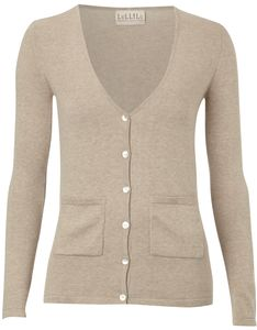 Cotton V Neck Cardigan - sale