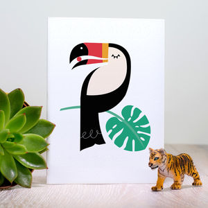 Toucan Tropical Bird Greeting Card - birthday cards