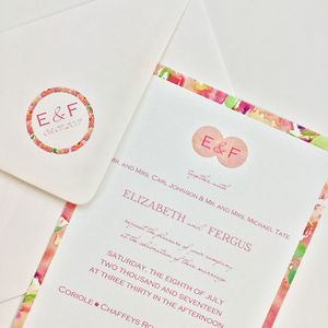 Watercolour Roses Wedding Invitation