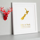Gold Edition Personalised Treasured Location Print