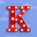 12'' Marquee Letter Light K
