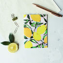 Lemons Pocket A6 Notebook With Gold Foiling