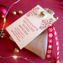 Personalised Mulled Wine Spice Bag