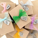 Coloured ribbon and tag options