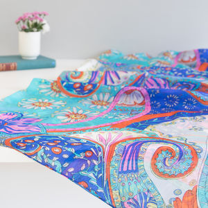 Large 'Paisley Park' Silk Scarf - summer sale
