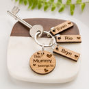 Personalised Oak 'This Mummy Belongs To…' Keyring