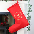 Personalised Stocking With Gold Monogram