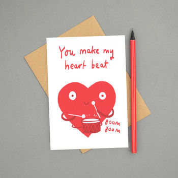 'You Make My Heart Beat' Love Card