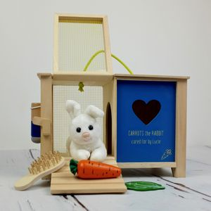 Personalised Rabbit Hutch Toy With Accessories