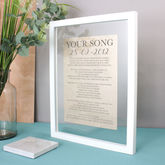 Linen Anniversary Lyrics/Vows Print - prints & art