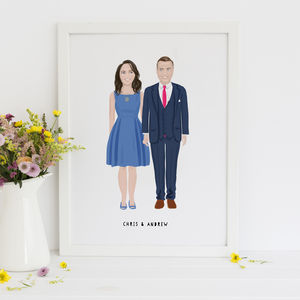 Personalised Couple Portrait - engagement gifts