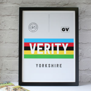 Personalised Cycling Jersey Print - baby's room