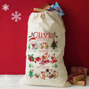 Personalised Christmas Story Sack
