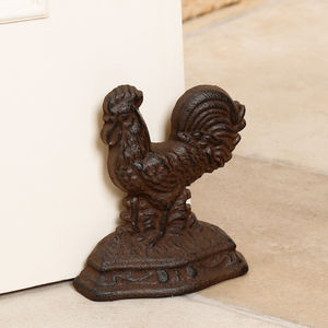 Cast Iron Cockerel Door Stop - door stops