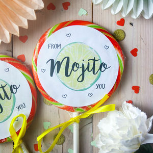 'From Mojito You' Passion Fruit Mojito Rum Lollipop