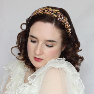 Gold And Purple Vintage Style Tiara