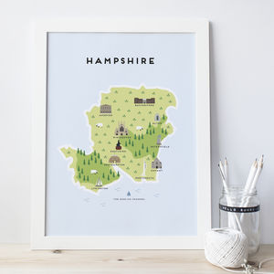 Map Of Hampshire - what's new
