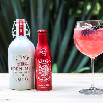 Love Gin 50cl And 3x Berry Bramble Gin Cocktails