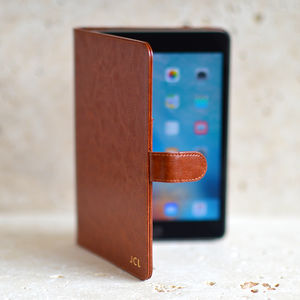 Personalised Leather iPad Mini Case - men's accessories
