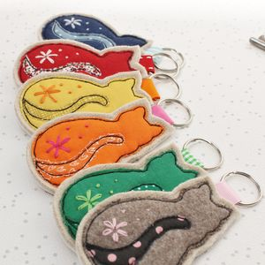 Cat Lovers Keyring - womens