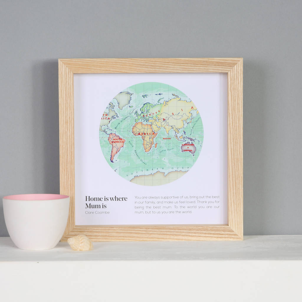 You are my world map heart print gift for mum by bombus you are my world map heart print gift for mum gumiabroncs Image collections