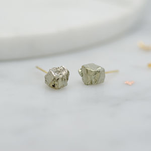 Little Pyrite Cluster Stud Earrings - women's jewellery