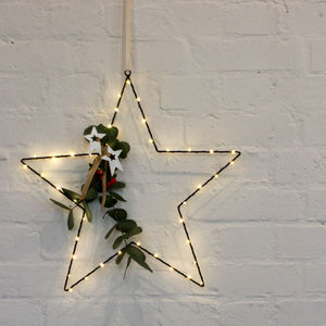 Wire Star Light - children's room accessories