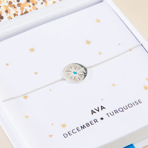 Personalised Birth Star Bracelet - memories of mum