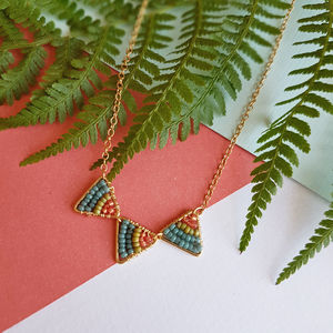 Mini Gold Triangle Tropical Necklace - view all new