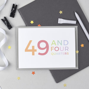50th Birthday '49 And Four Quarters' Card