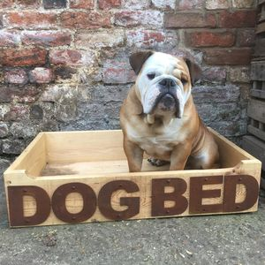 Reclaimed Wooden Dog Bed - dogs