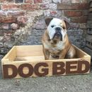 Reclaimed Wooden Dog Bed