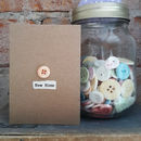 'New Home' Porcelain Button Card