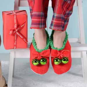 Christmas Slippers With Bells On - shoes