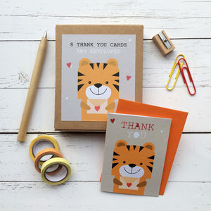 Children's Mini Thank You Cards Tiger
