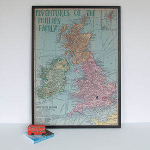 Personalised UK And Ireland Map Notice Board - kitchen accessories