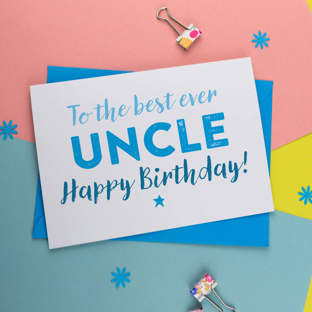 Birthday Card For The Best Uncle By A Is Alphabet
