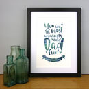 'The Most Amazingly Awesome Dad' Personalised Print